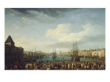 Int&#233;rieur du port de Marseille Gicl&#233;e-Druck von Claude-Joseph Vernet