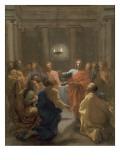 Jésus-Christ instituant l'Eucharistie Giclee Print by Nicolas Poussin