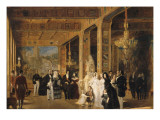 Louis Philippe, the Royal Family and King Leopold I. Giclee Print by Prosper Lafaye