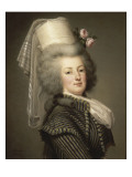 Marie-Antoinette de Lorraine-Habsbourg, reine de France, en habit d&#39;amazone en 1788 (1755-1793) Reproduction proc&#233;d&#233; gicl&#233;e par Adolf Ulrich Wertmuller