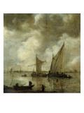 Marine par temps orageux Reproduction procédé giclée par Goyen Van