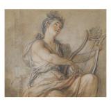 La poésie lyrique Giclee Print by Charles de La Fosse
