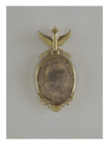 Medallion Pendant with Profiles of Roland Bonaparte and Marie-Felix Blanc Gicl&#233;e-Premiumdruck von E. Vernier