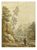 Paysage italien Gicl&#233;e-Druck von Pierre Jacques Volaire