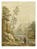 Paysage italien Giclée-Druck von Pierre Jacques Volaire