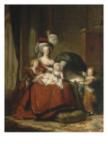 Marie-Antoinette de Lorraine-Hasbourg, reine de France et ses enfants Giclée-Druck von Elisabeth Louise Vigée-LeBrun