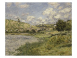 Paysage, Vétheuil Giclee Print by Claude Monet
