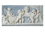 Amours et attributs vase porté sur un brancard Giclée-Druck von Piat Joseph Sauvage