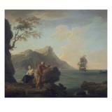 Amants à la pêche Giclée-Druck von Claude-Joseph Vernet