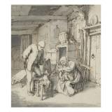 Intérieur de paysans Giclée-Druck von Adrien Van Ostade