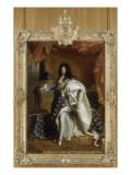 Louis XIV, roi de France, portrait en pied en costume royal Giclee Print by Hyacinthe Rigaud