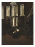 Scène d'intérieur Giclée-Druck von Jacobus Vrel