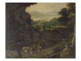 Landschaft mit Figuren Giclée-Druck von Sebastian Vrancx