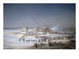 Cérémonie d'inauguration du canal de Suez à Port-Saïd, le 17 novembre 1869. Giclee Print by Édouard Riou
