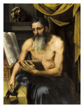 Saint Jérôme écrivant Reproduction procédé giclée par Willem Key