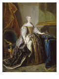 Leszczynska Mary, Queen of France (1703-1768) - 1725 Gicl&#233;e-Druck von Jean Baptiste Van Loo