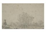 Paysage au pêcheur Giclée-Druck von Jan Van Goyen