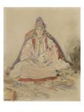 Mariée juive de Tanger Giclée-tryk af Eugene Delacroix