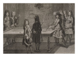 Louis XIV jouant au billard Reproduction proc&#233;d&#233; gicl&#233;e par Antoine Trouvain