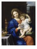 La Vierge à la grappe Lámina giclée por Pierre Mignard
