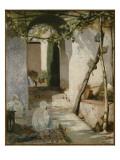Cour marocaine Giclee Print by Jean Joseph Benjamin Constant