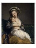 Madame Vigée-Le Brun et sa fille, Jeanne Marie-Louise (1780-1819) Giclée-Druck von Elisabeth Louise Vigée-LeBrun