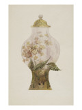 Model Covered Earthenware Vase Decorated with Phlox Giclée-tryk af Emile Gallé