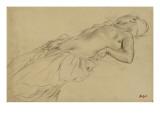 Femme nue, étendue sur le dos Giclée-tryk af Edgar Degas