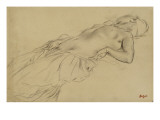 Femme nue, étendue sur le dos Giclee Print by Edgar Degas