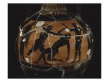 Panathenaic Amphora with Black Figures: Boxing Scene Giclee Print