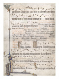 Page d'un antiphonaire Gicle-tryk
