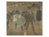 Panneau pour la baraque de la Goulue, à la Foire du Trône à Paris Lámina giclée por Henri de Toulouse-Lautrec