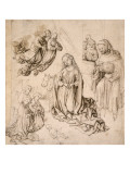 Nativity: the Virgin and Child Surrounded by Angels Giclee Print by Martin Schongauer
