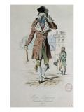 """Mode parisienne ; """"Merveilleuse et Incroyable"""" : le Muscadin; Giclée-Druck von Antoine Charles Horace Vernet"""