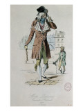 "Mode parisienne ; ""Merveilleuse et Incroyable"" : le Muscadin; Giclee Print by Antoine Charles Horace Vernet"