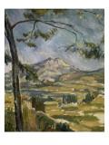 La montagne Sainte Victoire Giclee Print by Paul Cézanne