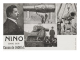 Nino with His Gun 1600Kl, Weightlifter, Weight Raiser Giclee Print