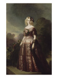 Marie-Caroline-Auguste de Bourbon-Salerne, duchesse d&#39;Aumale (1822-1869) Reproduction proc&#233;d&#233; gicl&#233;e par Franz Xaver Winterhalter