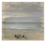 Flåden Giclée-tryk af Edgar Degas