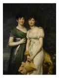 Mesdemoiselles Mollien, nièces du comte Mollien Giclee Print by Georges Rouget