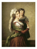 Madame Rousseau et sa fille Giclée-Druck von Elisabeth Louise Vigée-LeBrun