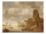 Marine Reproduction procédé giclée par Jan Van Goyen