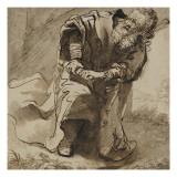 Vieillard drapé Lámina giclée por Ferdinand Bol