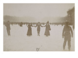 Photo Album: Ice Skating Scene in Versailles in 1900 Giclee Print