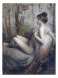 Femme nue assise sur un canapé Giclée-Druck von Eugène Vidal