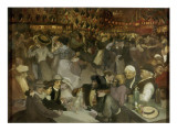 Le bal du 14 juillet Giclee Print by Théophile Alexandre Steinlen