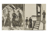 Murder in a Cell by a Convict, on His Fellow Prisoner Giclee Print