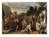 Mucius Scaevola devant Porsenna Lmina gicle por Charles Le Brun