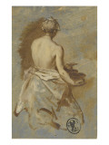 Le buste nu d'une servante, vu de dos Giclée-Druck von Nicolas Vleughels