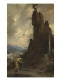 Oedipe s'exilant de Thèbes dit autrefois Oedipe et Antigone Giclee Print by Henri Levy